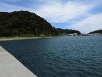 福浦港 波止・内側の写真