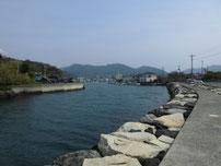 萩商港 松本川上流側の写真