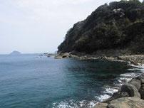 飯井港 右側地磯の写真