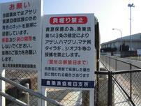 浜の宮海岸 貝掘り禁止の写真