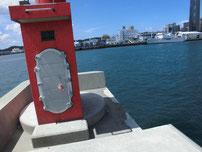 岬之町 赤灯台堤防先端付近の写真