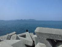 三見漁港 大波止 角の写真