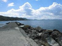 吉見 古宿町の波止 右側 の写真