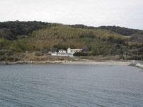 中浦漁港 右側の砂浜の写真