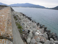 問屋口海岸 角から先の写真