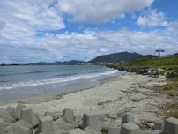 綾羅木川河口部 安岡側砂浜の写真