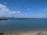 蓑島漁港 導流提の写真