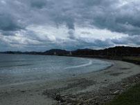 只の浜海岸 ドライブイン側砂浜の写真