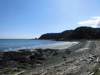 もじ少年自然の家周辺 正面の砂浜 の写真