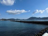 日明海峡釣り公園 釣り桟橋 の写真