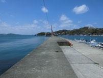越ケ浜漁港 萩小町横波止・先端付近の写真