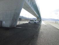 北九州空港連絡橋下 駐車場の写真