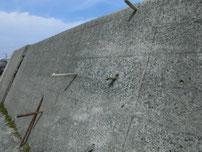 宇島港 波返しの棒の写真