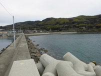 中浦漁港 左側の波止の写真