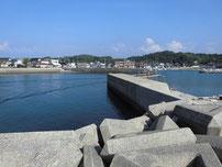 島戸漁港 港内の写真
