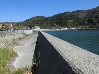 奈古漁港 道の駅側護岸の写真