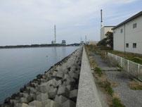 能徳工業団地 海側の護岸の写真