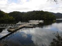 豊田湖 釣り桟橋の写真