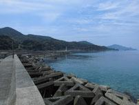 宇田港 外波止の写真
