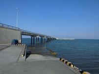 八津田漁港 桟橋 右側の写真