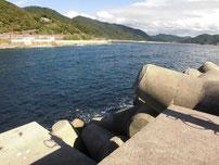 二見漁港 外波止・センタ付近の写真