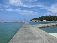 涌田漁港も写真