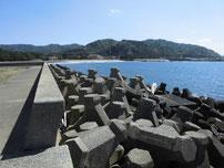 大井漁港 付け根護岸の写真