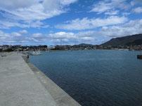 安岡漁港 外波止・内側の写真