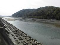 長峡川河口 上流側の写真