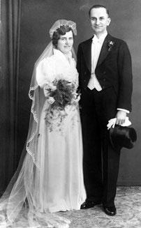 Hochzeitsfoto von Otto und Elise Hampel     © Privatbesitz