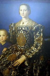 Bronzino, Portrait der Eleonora de Toledo und ihres Sohnes Giovanni, ca. 1545, Galleria degli Uffizi, Firenze. Foto: Nina Möller