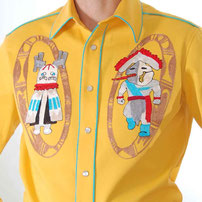 Kachina One embroidered Western Shirt sunny yellow