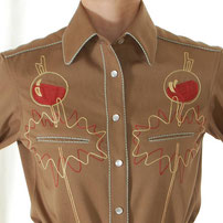 Tharsis Wine Trail embroidered Western Shirt brown