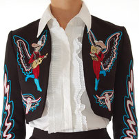 Autoharpy embroidered Bolero Jacket black