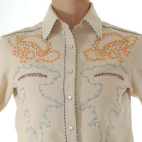 Hammerhead embroidered Western Shirt with embroidery