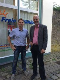 Andre Uhlstein (Freifunkinitiative) und Rüdiger Krentz (Fraktionsvorsitzender)