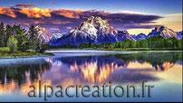 BRODERIE DIAMANT montagnes enneigées