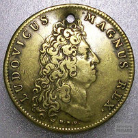 NUM.17.004 Propagandamedaille (»Jeton«) mit Ludwig XIV. (o.J., ca. 1698) / © Sammlung PRISARD