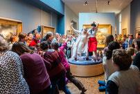 Nuit des musées 2017, Les clowns au musée. ©Mathieu Le Gall