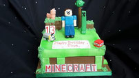 Minecraft  childrens birthday cake