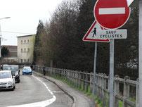 contre-sens cyclable Rue Desjardin