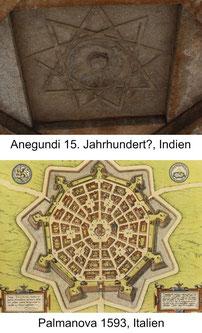 Neunzackiger Stern in der mittelalterlichen Architektur