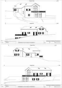 Elévation permis de construire façade