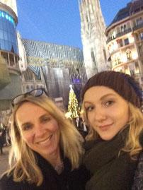 Vienna, Stephansplatz, Duomo di Santo Stefano, con la mia figlia