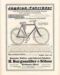 Burgsmüller & Söhne, Katalogblatt 1924