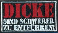 Aufnäher Patch Abzeichen, gesticktes Embleme Label Dicke-gallery-sind-schwerer-zu-entfuehren-Rockabilly-Biker-Outlaw-Patch-Aufnaeher