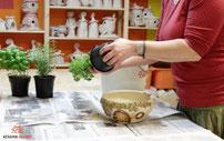 Keramik Kräuterschale