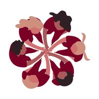 gezeichnete Frauen im Kreis
