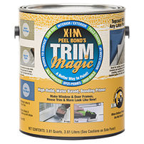 X-I-M Peel Bond's TRIM MAGIC, Clear Ultra High Build, Water Based Bonding Primer Sealer and Filler