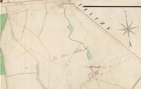 Plan de la Cour Roland en 1812 - Archives départementales des Yvelines.